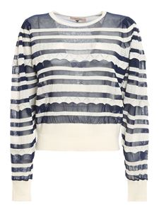 Twin-Set - Striped jumper in blue and white