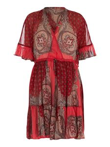 Twin-Set - Paisley patterned shorts dress in red