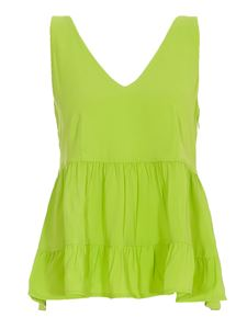 Twin-Set - Pleated top in green