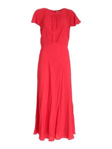 Blumarine - Loose fit dress crepe in red