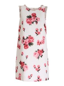 Blumarine - Jacquard dress with floral pattern in white