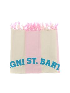 MC2 Saint Barth - Beach towel Foutas Light in ivory and pink