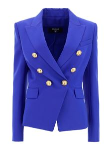 Balmain - Wool blazer in blue