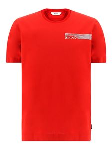 Z Zegna - T-shirt in cotone rossa