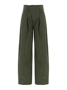 Chloé - Flared cotton trousers in green