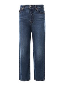 Levi's - Jeans Ribcage Straight Ankle blu
