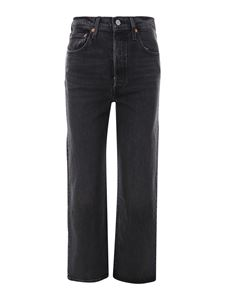 Levi's - Jeans Ribcage Straight Ankle nero