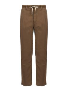 Z Zegna - Pantaloni casual marroni in cotone