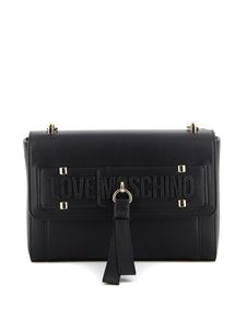 Love Moschino - Borsa a spalla in similpelle nera