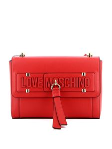 Love Moschino - Borsa a spalla in similpelle rossa