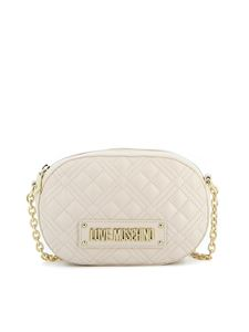 Love Moschino - Quilted faux leather bag in ivory color