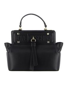 Love Moschino - Black faux leather tote bag