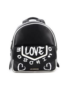 Love Moschino - Black faux leather backpack