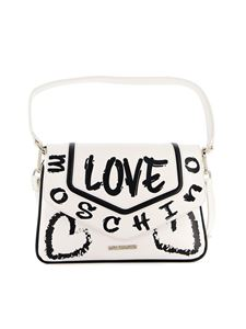Love Moschino - Borsa a spalla in similpelle bianca