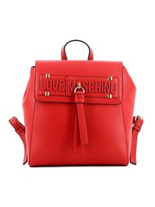 Love Moschino - Red faux leather backpack