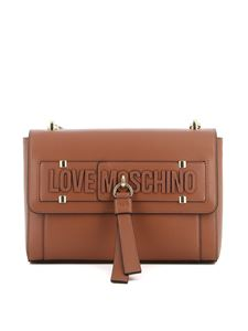 Love Moschino - Borsa a spalla in similpelle marrone