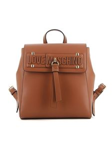 Love Moschino - Brown faux leather backpack