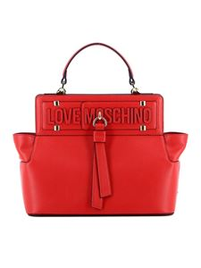 Love Moschino - Red faux leather tote bag