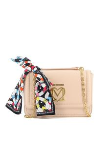 Love Moschino - Borsa a spalla in similpelle nude