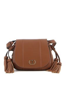 Twin-Set - Brown faux leather shoulder bag