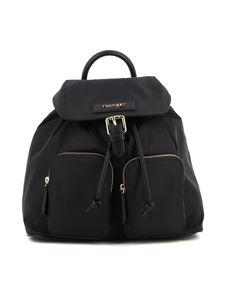 Twin-Set - Black faux leather backpack