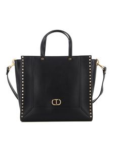 Twin-Set - Black faux leather tote bag