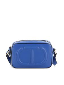 Twin-Set - Blue faux leather crossbody bag