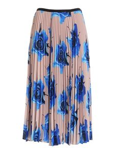 Paul Smith - Pleated skirt in beige and light blue