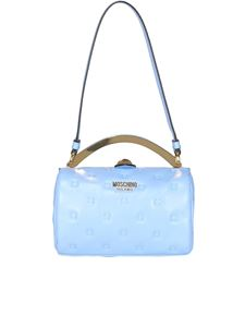 Moschino - Inside Out Quilting bowling bag in Clear Blue color