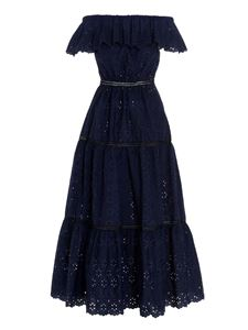 Parosh - Broderie anglaise dress in blue