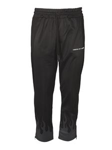 Vision Of Super - Pantaloni Black Flames neri
