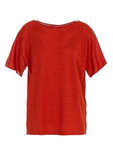 Roberto Collina - Cashmere silk T-shirt in red