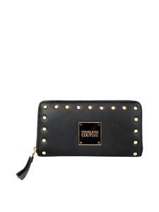 Versace Jeans Couture - Revolution studded wallet in black