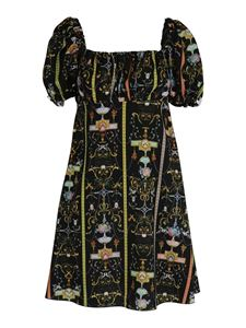 Versace Jeans Couture - Tuileries printed dress in black