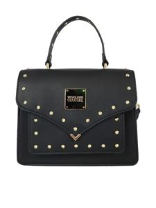 Versace Jeans Couture - Studded faux leather tote in black
