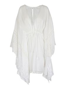 Twin-Set - Broderie anglaise dress in white