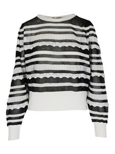 Twin-Set - Striped jumper black and white