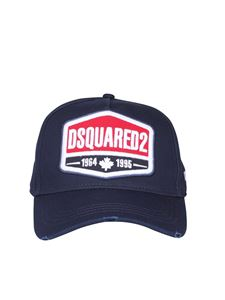 Dsquared2 - Used effect baseball cap in blue