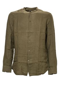 Paolo Pecora - Linen shirt in army green