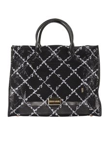Ermanno by Ermanno Scervino - Drilled fabric tote bag in black