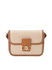 Ermanno by Ermanno Scervino - Canvas and faux leather bag in beige