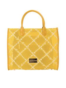 Ermanno by Ermanno Scervino - Drilled fabric tote bag in yellow
