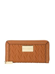 Ermanno by Ermanno Scervino - Faux matelassé leather wallet in brown