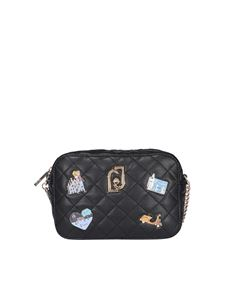 Liujo - Quilted faux leather cross body in black
