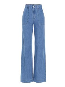 A.P.C. - Flared jeans in light blue