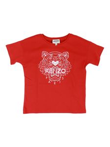 Kenzo - Printed cotton T-shirt in red