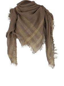 Peserico - Linen-blend scarf in brown