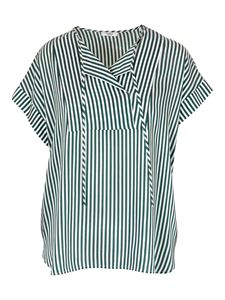 Peserico - Striped top in green and white