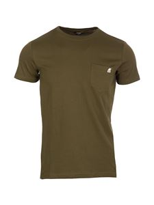 K-way - Chest pocket T-shirt in green
