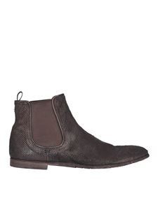 Premiata - Perforated leather Chelsea boots